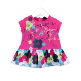 Βρεφικό φορεματάκι Losan 7001 βαμβακερό με όμορφο φλοράλ μοτίβο