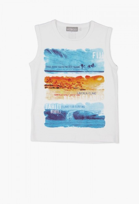2f28b46fad7 Παιδικό μπλουζάκι αμάνικο - BOBOLI - Happy Earth