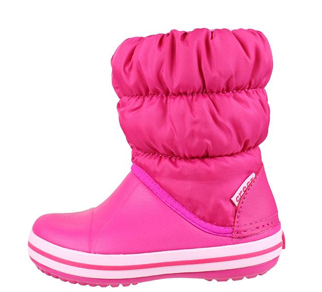 Παιδικά μποτάκια CROCS σε χρώμα ροζ με εσωτερική επένδυση