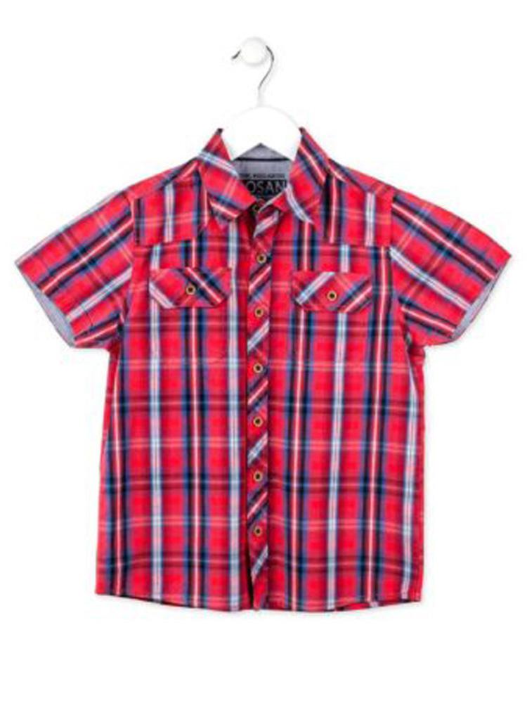 03c95f070836 Παιδικό πουκάμισο καρό κόκκινο losan 3003 - HappyEarth