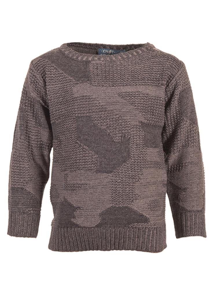 91e71b04355 Παιδικό πουλόβερ για αγόρι knot so bad 5310 - HappyEarth