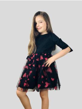 παιδικό φόρεμα με καρδιές
