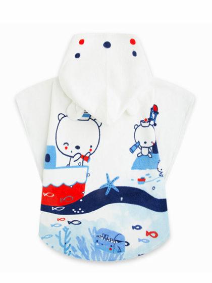 Μπουρνούζι παιδικό tuc tuc για αγόρι αρκουδάκια ναυτάκια