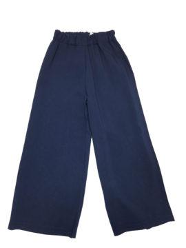 Παιδική παντελόνα για κορίτσι με λάστιχο και χυτό ύφασμα Walking Ahead σε Navy Blue