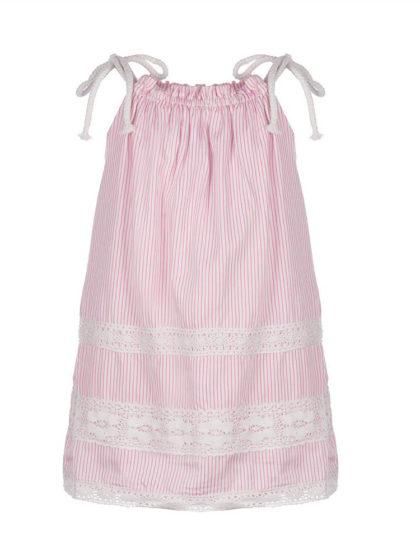 παιδικο φόρεμα marasil 22011109 happy earth ριγέ ροζ