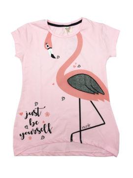 Παιδική μπλούζα Flamigo σε ροζ χρωματισμούς Happy Collections,