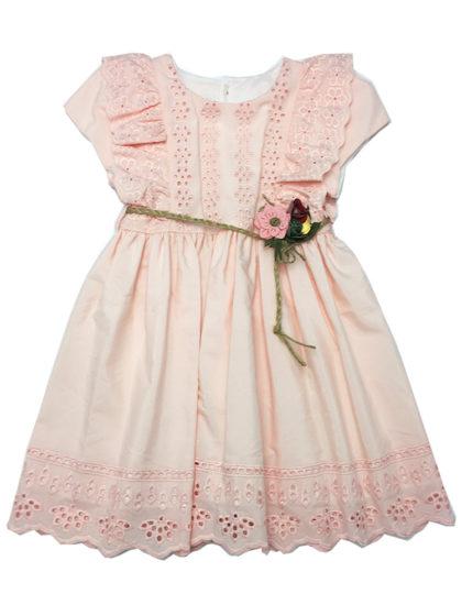 Παιδικό φόρεμα με κιπούρ λεπτομέρειες happy earth online