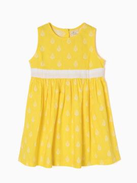 zippy παιδικο φόρεμα κίτρινο