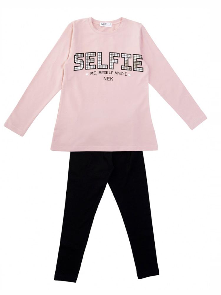 Παιδικό Σετ κορίτσι με κολλάν και μπλούζα Nek kids wear 121720