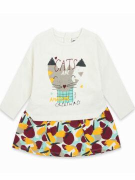 Παιδικό φόρεμα φούτερ tuc tuc 11290301 γατούλα happy earth