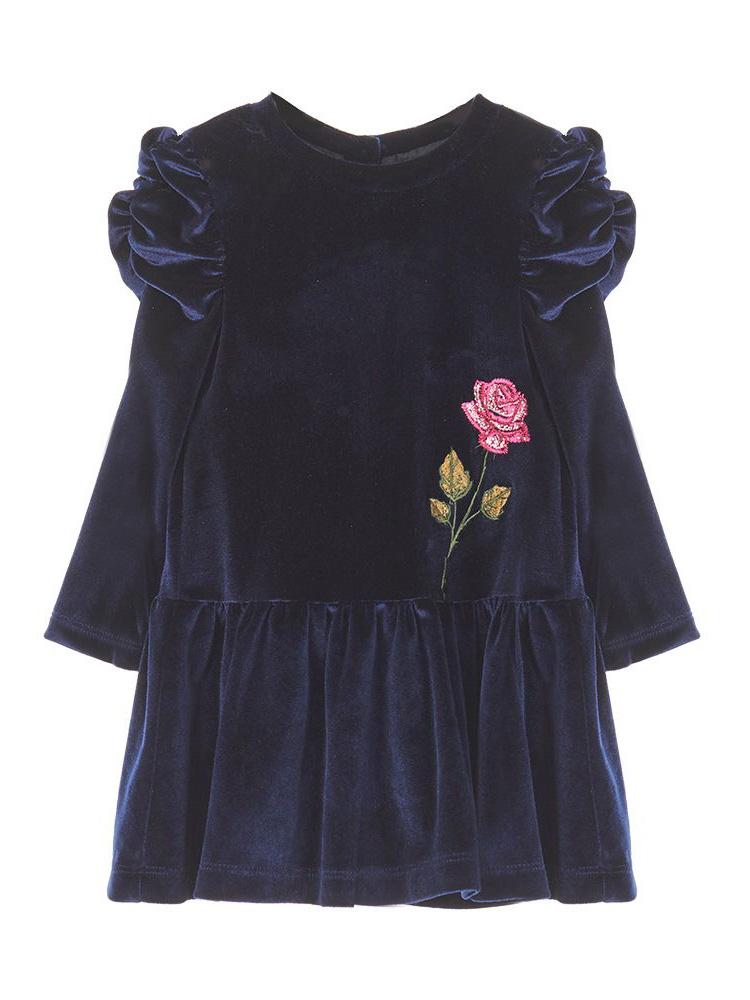 Παιδικό φόρεμα βελουτέ για καλο ντύσιμο Marasil 22011158