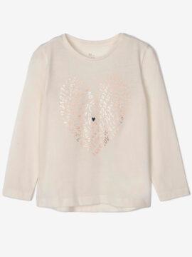 Παιδική μπλούζα για κορίτσι zippy λευκό μακρυμάνικο μπλουζάκι για κορίτσια