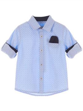 Marasil παιδικό βρεφικό πουκάμισο 22011936 σε σιέλ χρώμα