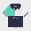 Mayoral Βρεφικό μπλουζάκι πολο 21-01110-020 με χρώματα