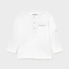 Mayoral βρεφική μπλούζα 21-01016-091 λευκή για αγόρι
