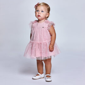Mayoral βρεφικό φόρεμα ροζ 21-01957-003 απο 9 έως 24 μηνών