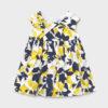 Mayoral βρεφικό φόρεμα 21-01966-006 φλοράλ κίτρινο μπλέ