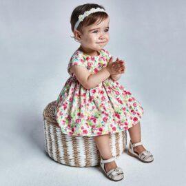 Mayoral βρεφικό φόρεμα 21-01973-010 φλοράλ ροζ λευκό