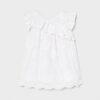 Mayoral βρεφικό φόρεμα κεντητό 21-01990-035 λευκό