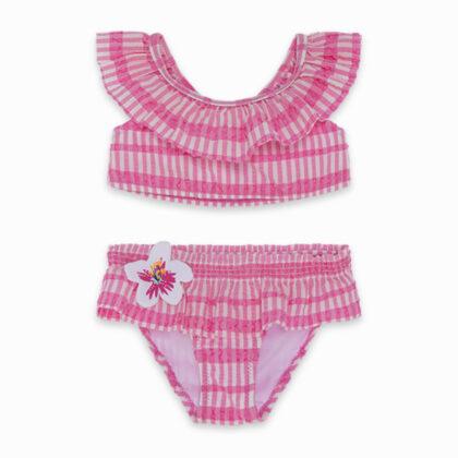 Παιδικό μαγιό μπικίνι tuc tuc 11300331 με καρό ροζ μοτίβο