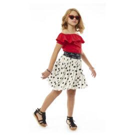 Παιδική φούστα σετ με τοπ Εβίτα 214044 Σετ με κόκκινη μπλούζα