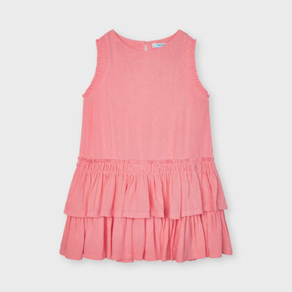 Παιδικό φόρεμα mayoral 3949 αμάνικο με βολάν φούξια